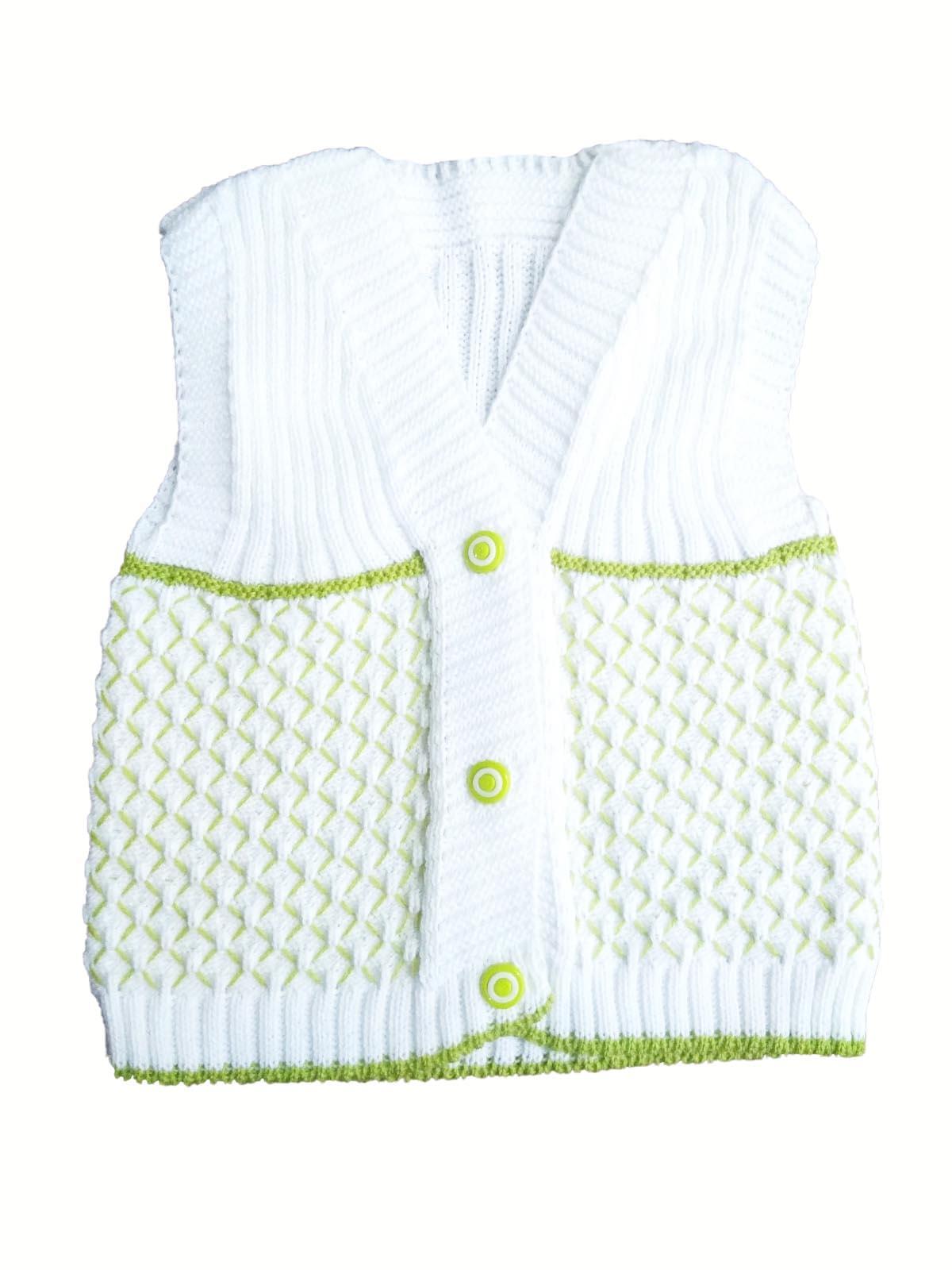 1 Yaş Bebek Kolsuz Yelek Fıstık Yeşili Bebek Yelek