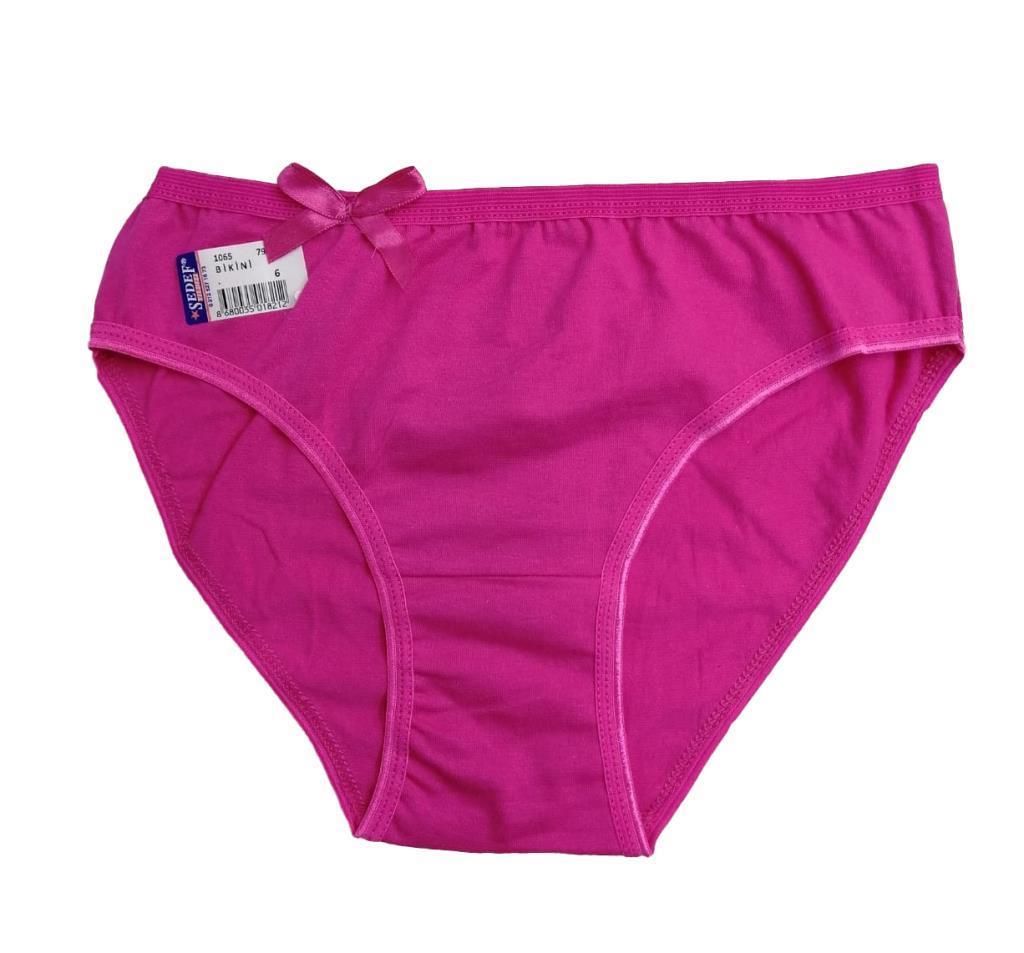 6 lı Paket Bayan Sedef Yıldızı Düz Renk Bikini Külot Renk Çeşitli