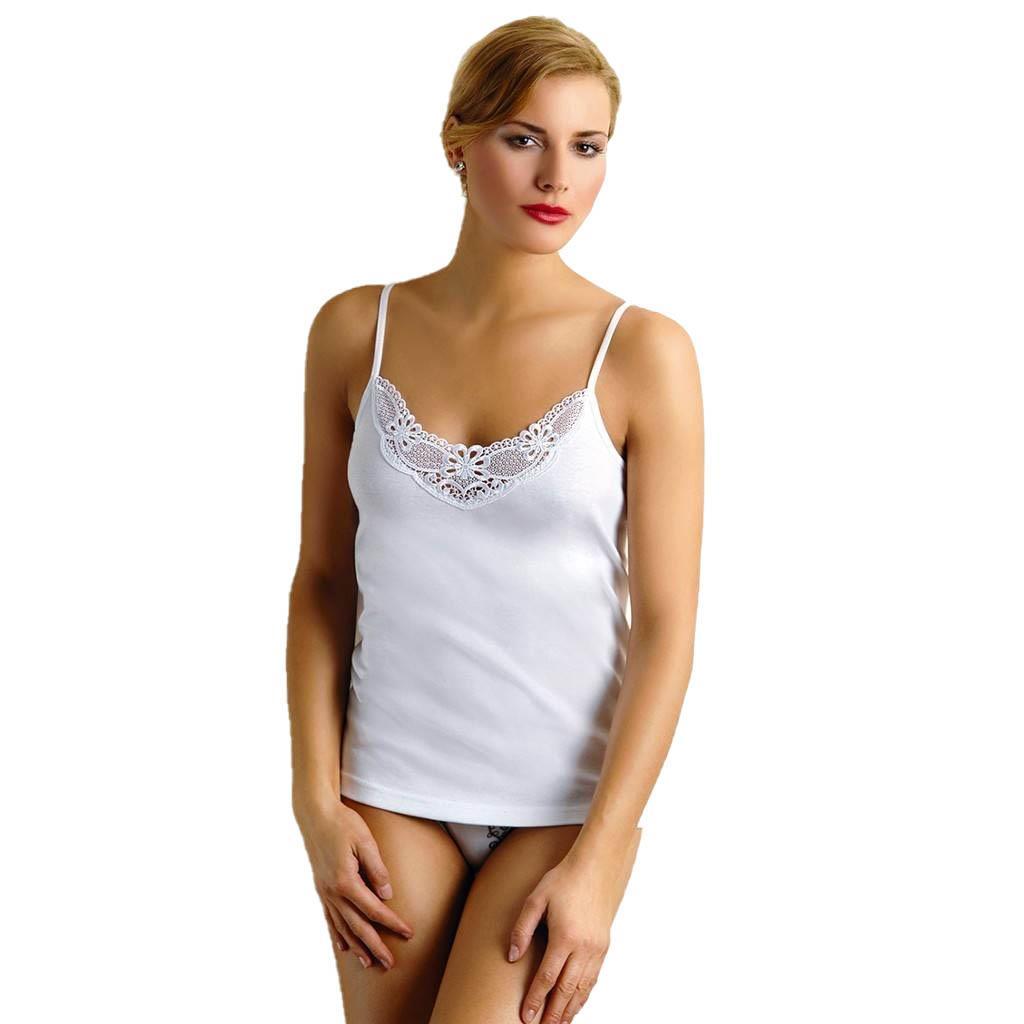 Anıt Bayan Ribana İp Askılı Dantelli Atlet Beyaz Renk 2103