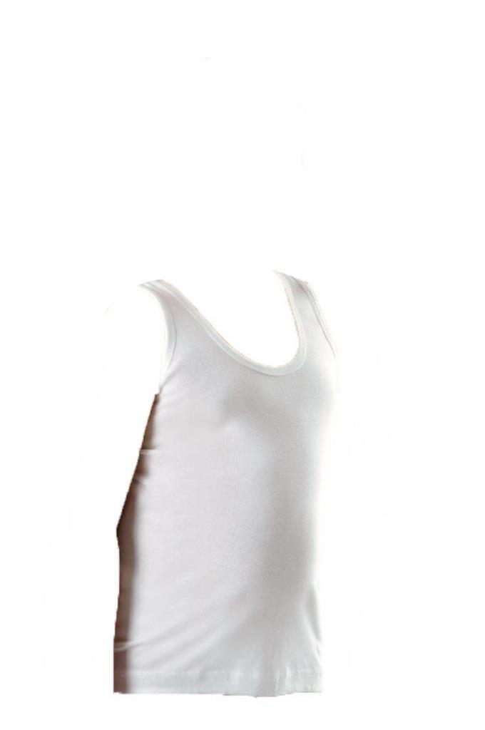 Anıt Erkek Çocuk Atlet Beyaz Renk Ribana Atlet 4702
