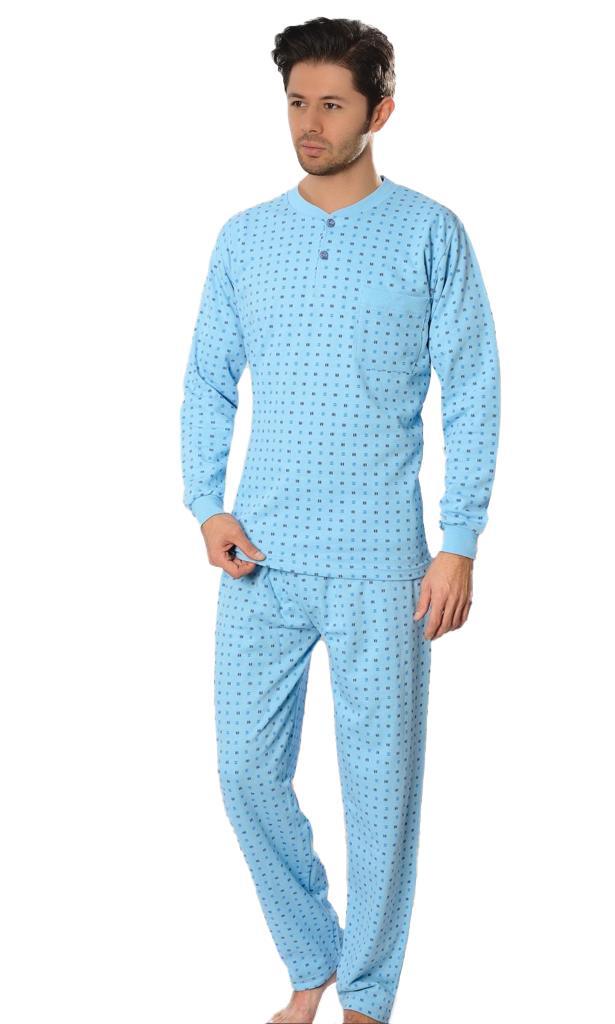 Aysu 2060 Erkek Uzun Kol Pijama Takımı Penye Pijama Takımı