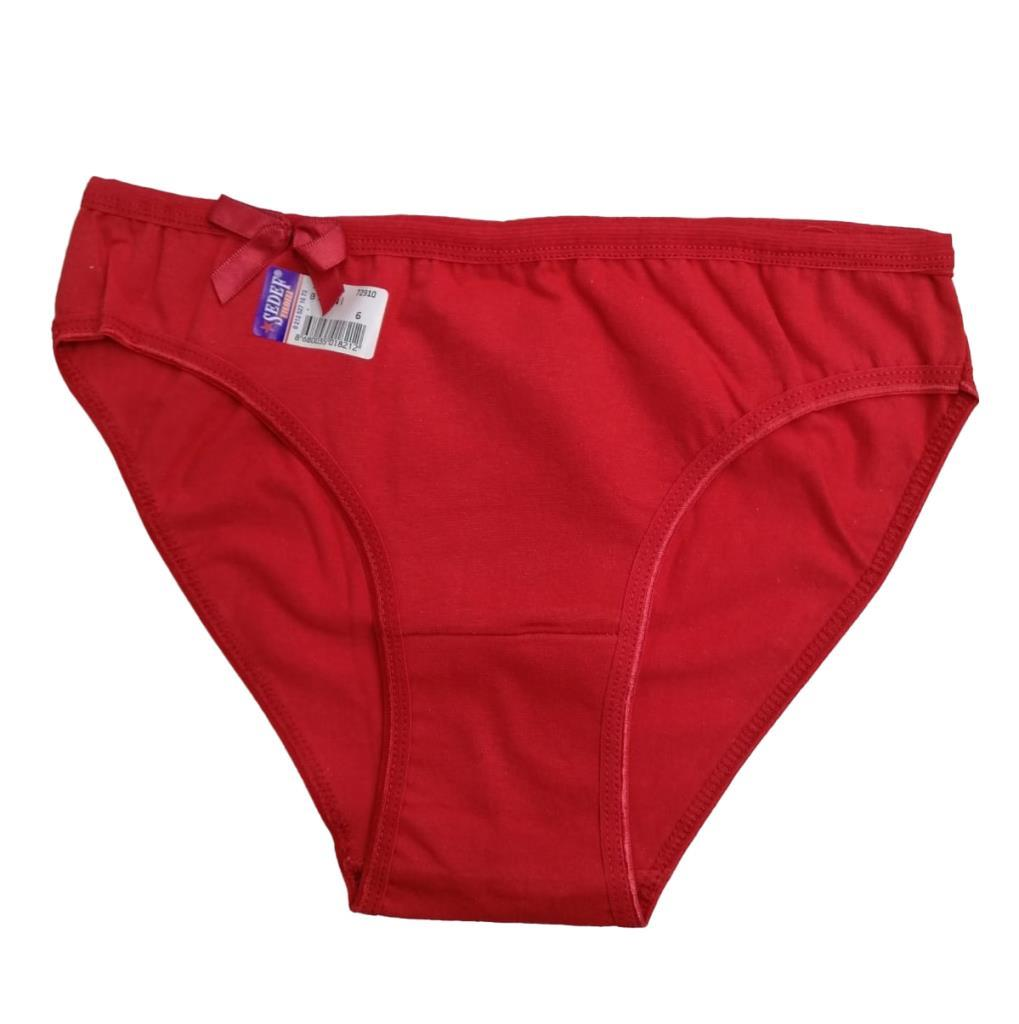 3 lü Paket Bayan Sedef Yıldızı Düz Renk Bikini Külot Renk Çeşitli