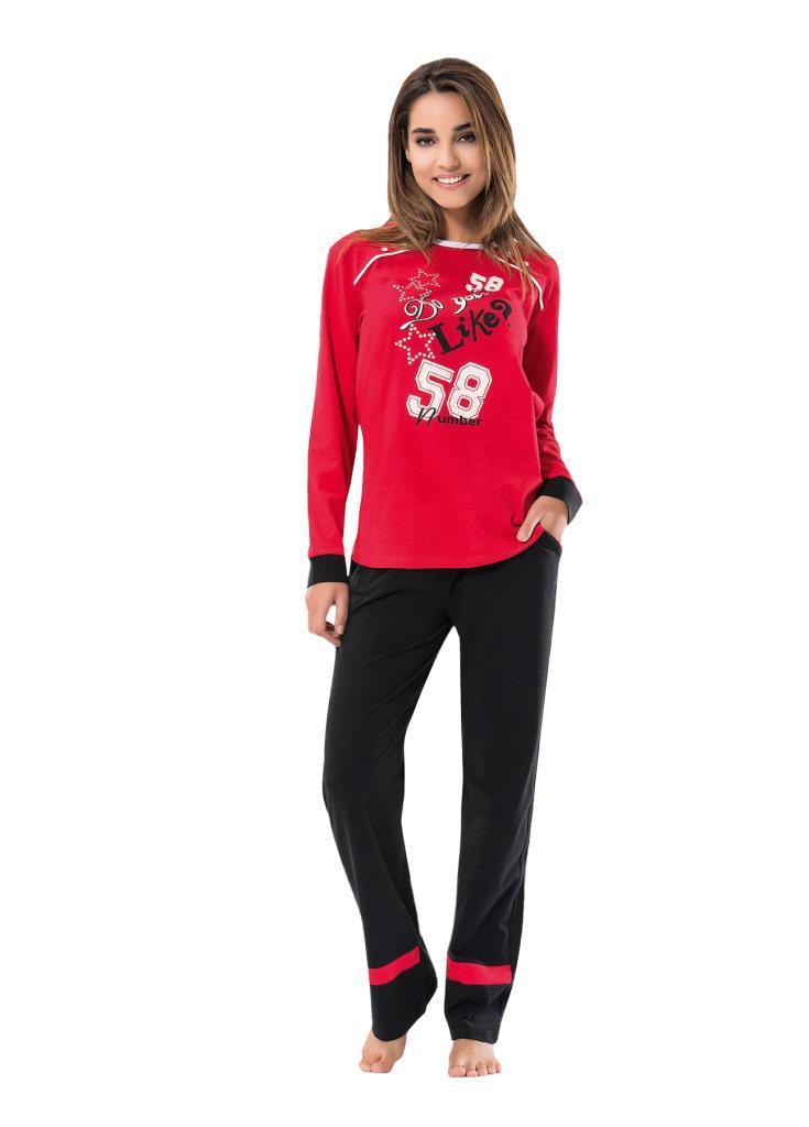 Derya Kurşun 1103 Bayan Uzun Kol Pijama Takımı