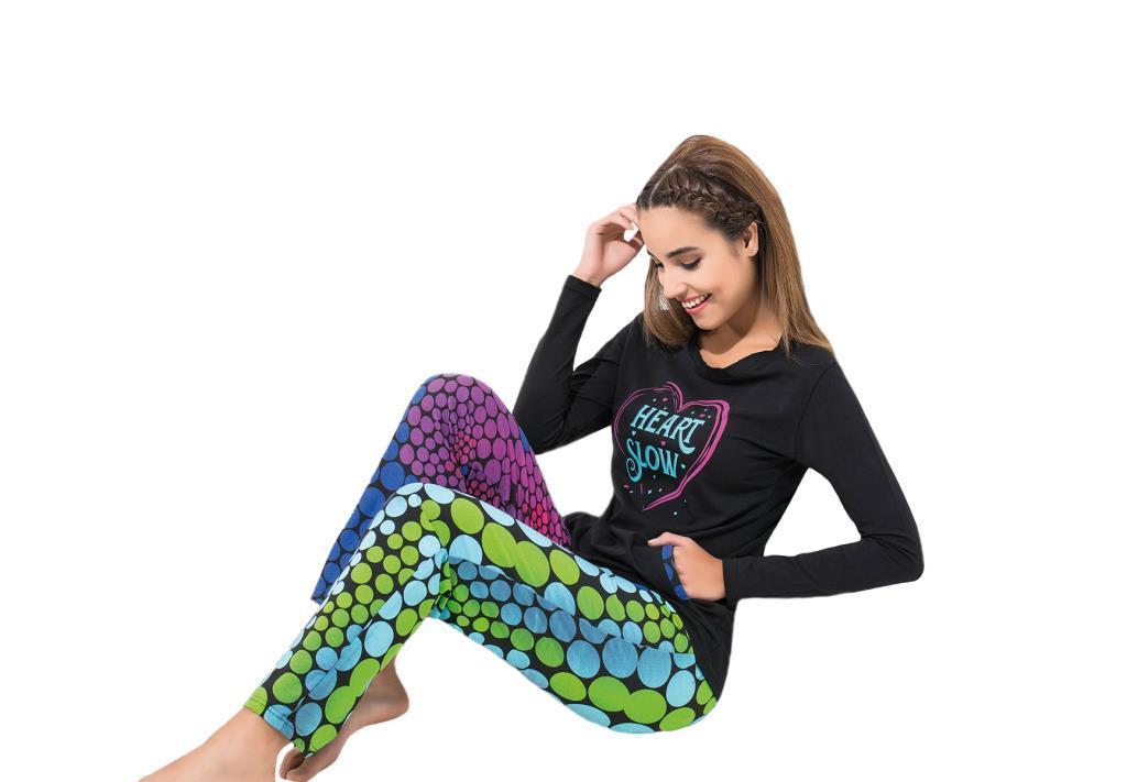 Derya Kurşun 1110 Bayan Uzun Kol Pijama Takımı