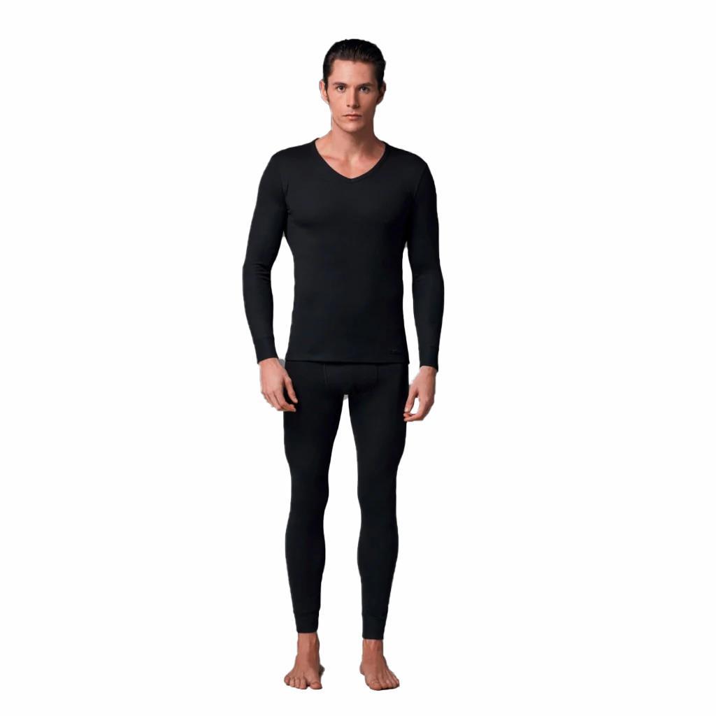 Eros 1458 Erkek Termal İçlik V Yaka Uzun Kol T-Shirt Kışlık İçlik