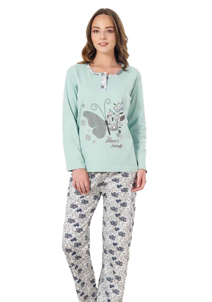 Estiva 19312 Bayan Çiçek Desen Baskılı İnterlok Pijama Takımı