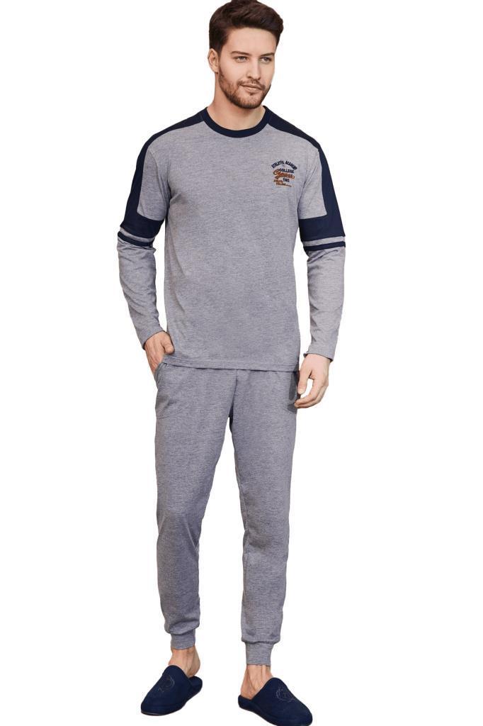 Mecit 2752 Erkek Spor Uzun Kol Pijama Takımı