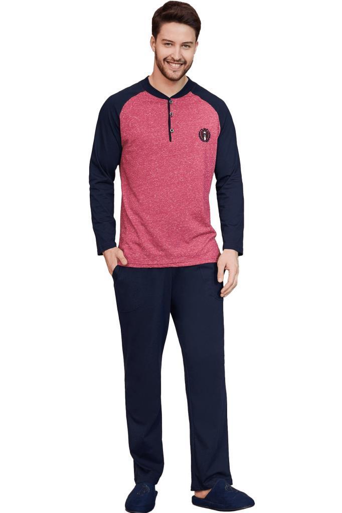 Mecit 2753 Erkek Uzun Kol Pijama Takımı