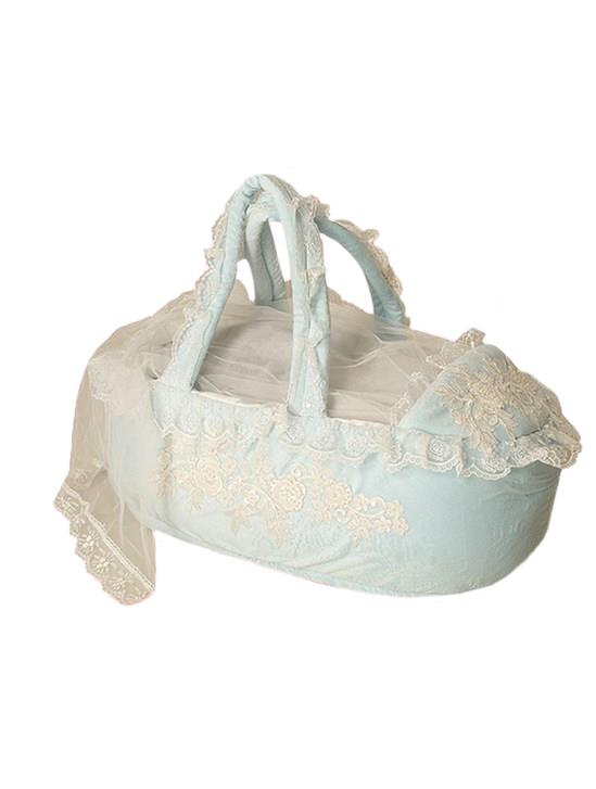 Mecit Bebek Potrbebe İşlemeli Puset Peluş Mavi 520