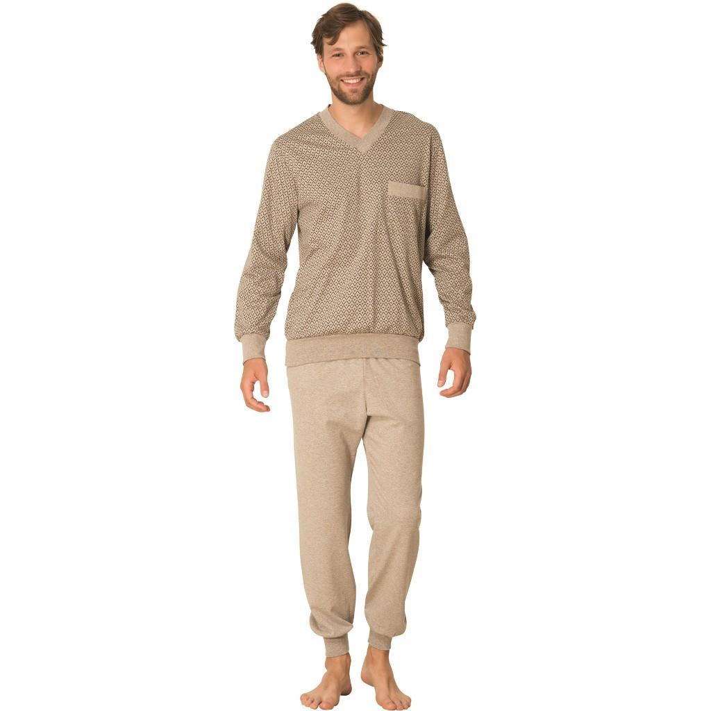 Mecit V Yaka Erkek Pijama Takımı Battal Ribana Erkek Pijama 2711