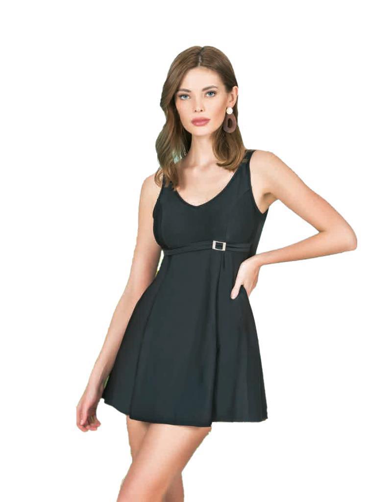 Nbb 55252 Bayan Robadan Askılı Elbise Mayo Siyah