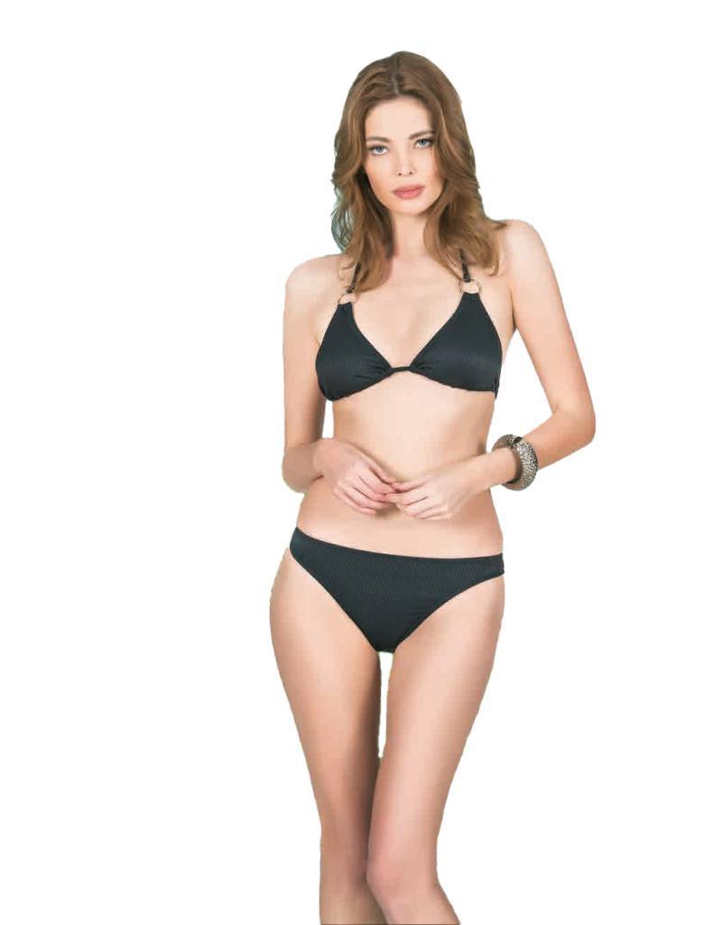 Nbb 55254 Bayan Siyah Üçgen Bikini Mayo
