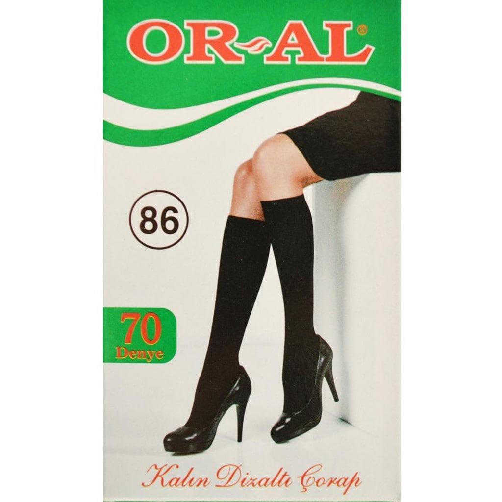 Oral Bayan Dizaltı Çorap Kalın 70 Denye Yeşil Kutu