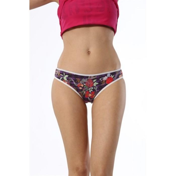 Özlem Bayan Desenli Bikini Külot Standart M Beden