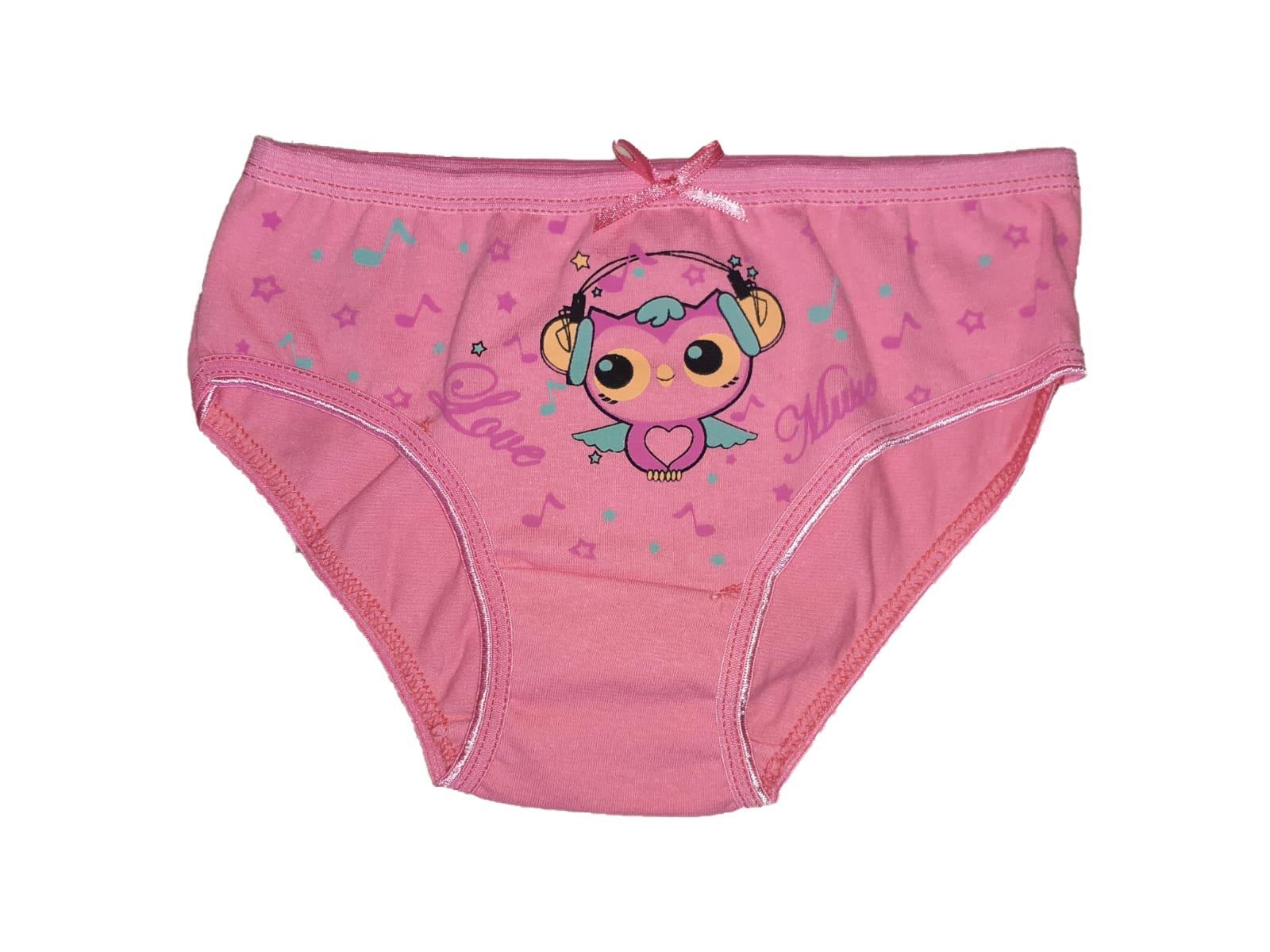 Sedef Yıldızı Kız Çocuk İnce Lastik Bikini Külot Tekli
