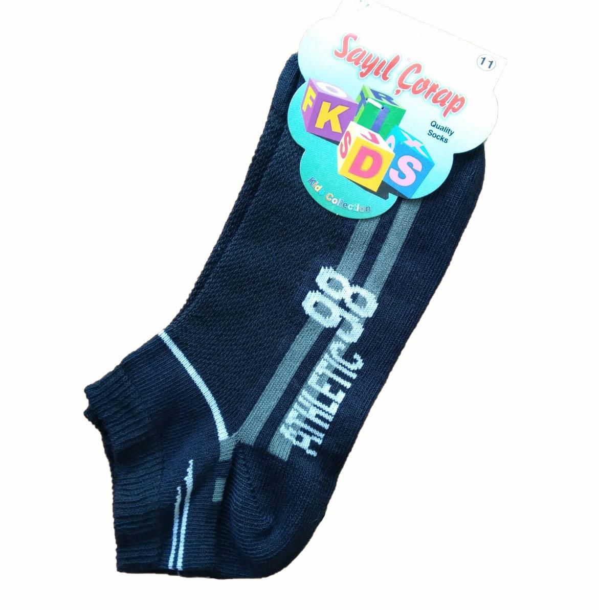 12 Çift Sayıl Erkek Çocuk Patik Çorap Kısa Çorap