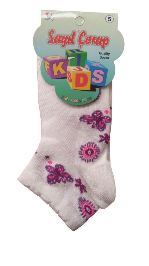 Sayıl Kız Çocuk Spor Çorap Kısa Patik Çorap 1 Çift
